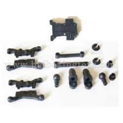 HBX 2078B Parts Suspension Arms+Shock Absorber Plastic Parts + Front Gear Box Mount 24022