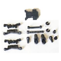 HBX 2078C Parts Suspension Arms+Shock Absorber Plastic Parts + Front Gear Box Mount 24022