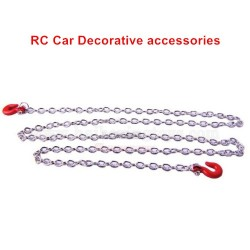 Remote Control Car Decorative Accessories Tow Hook With Metal Chain-Silver