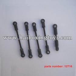 HBX 12889 Parts Front Steering Links+ Servo Link+Front Linkd 12716